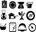 Restaurant and cooking icons set of Royalty Free Stock Photography