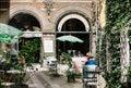 Restaurant courtyard in Copenhagen, Denmark