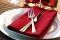 Restaurant dinner place setting Stock Photography