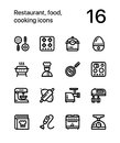 Restaurant, food, cooking icons for web and mobile design pack 3