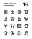 Restaurant, food, cooking icons for web and mobile design pack 2