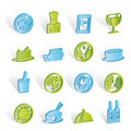 Restaurant, food and drink icons Stock Photography
