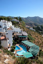 Restaurant, houses and swimming pool in Spain Royalty Free Stock Photo