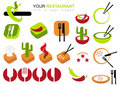 Restaurant Icon Set Royalty Free Stock Photography