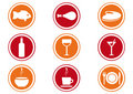 Restaurant  Icon Set. Royalty Free Stock Photo