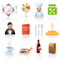 Restaurant icons Stock Images