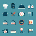 Restaurant icons information sign vector Royalty Free Stock Images