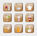 Restaurant icons Royalty Free Stock Photo