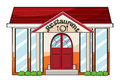 A restaurant illustration of on white background Royalty Free Stock Photography
