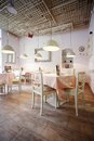 Restaurant interior design shabby nice romantic Stock Images