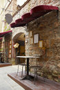 Restaurant in Italy, Tuscany Royalty Free Stock Image