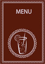 Restaurant and juice bar menu design Stock Images