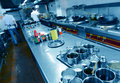 Restaurant kitchen motion chefs of a Stock Images