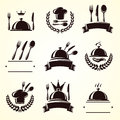 Restaurant labels set. Vector Royalty Free Stock Photo