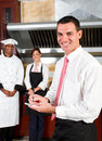 Restaurant manager Royalty Free Stock Photo