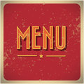 Restaurant menu card design template grunge Royalty Free Stock Photo