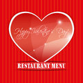 Restaurant menu the concept of on valentines day Royalty Free Stock Photos