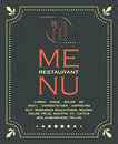 Restaurant menu cover background in vintage style illustration Royalty Free Stock Photography