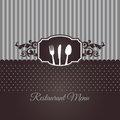 Restaurant menu cover chocolate brown image illustration Royalty Free Stock Photography