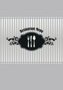 Restaurant menu cover silver black image illustration Stock Image