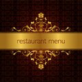 Restaurant menu design 01 Royalty Free Stock Photography