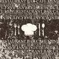Restaurant menu design. Grunge style Stock Photography