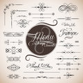 Restaurant menu design template Stock Photo