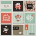 Restaurant menu designs. Vector illustration.