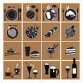 Restaurant menu icons Royalty Free Stock Images