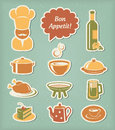 Restaurant menu icons set Stock Photography