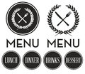 Restaurant Menu Logo Stock Image