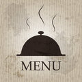 Restaurant menu template in grunge retro style Stock Images