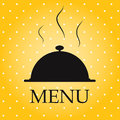 Restaurant menu template  illustration. Stock Photography