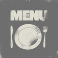 Restaurant menu typographical design vector illustration grunge Stock Photos