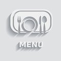 Restaurant menu white and grey modern design Stock Photo