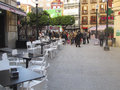 Restaurant in murcia spain empty old city center is a city south eastern which was founded by the emir of Stock Image