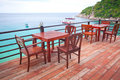 Restaurant near the sea Royalty Free Stock Photo