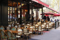 French Restaurant sidewalk cafe Paris France Royalty Free Stock Photo