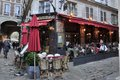 Restaurant in paris people a french bistrot france Royalty Free Stock Image
