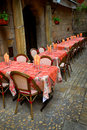 Restaurant patio Royalty Free Stock Photography