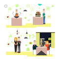 Restaurant people vector illustration in flat style