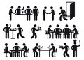 Restaurant pictograms illustrated set of isolated on a white background Stock Photography