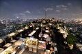 Restaurant at the Rooftop, Bangkok Royalty Free Stock Photo