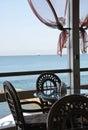 Restaurant on seacoast Royalty Free Stock Photos