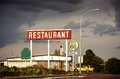 Restaurant sign along Route 66 Royalty Free Stock Image