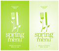Restaurant spring menu. Royalty Free Stock Photography