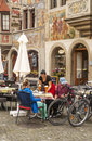 Restaurant in Stein am Rhein Royalty Free Stock Photo