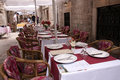 Restaurant in street in dubrovnic in croatia europe the walled city of it is one of the most delightful tourist resorts of the Stock Image