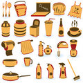 Restaurant supply icons Royalty Free Stock Photo