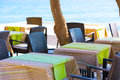 Restaurant sur la plage Photo stock